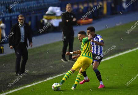 Kieran Gibbs of West Bromwich Albion and Jacob Murphy of Sheffield Wednesday