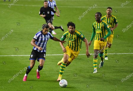 Jacob Murphy of Sheffield Wednesday and Ahmed Hegazi of West Bromwich Albion