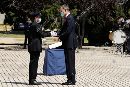 Editorial photo of King Felipe VI chairs ceremony of graduation ceremony of new police officers, Madrid, Spain - 30 Jun 2020