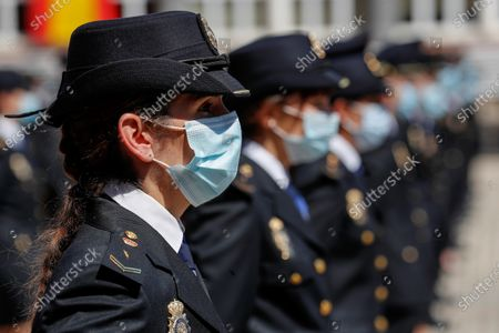 Editorial picture of King Felipe VI chairs ceremony of graduation ceremony of new police officers, Madrid, Spain - 30 Jun 2020