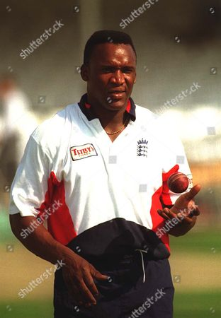 Devon Malcolm Prepares During Englands Nets Session At Trent Bridge - 1997