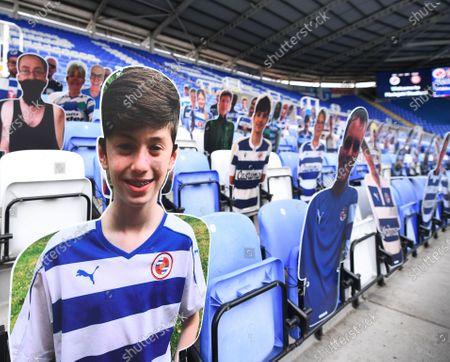 Madejski Stadium, Reading, Berkshire, England; virtual supporters for Reading in the seats; English Championship Football, Reading versus Brentford.