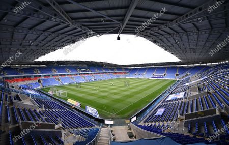 Madejski Stadium, Reading, Berkshire, England; An empty Madejeski stadium before kick off; English Championship Football, Reading versus Brentford.