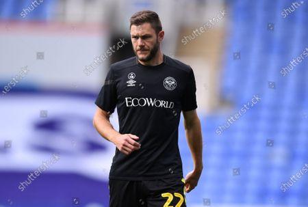 Madejski Stadium, Reading, Berkshire, England; Henrik Dalsgaard of Brentford warms up; English Championship Football, Reading versus Brentford.
