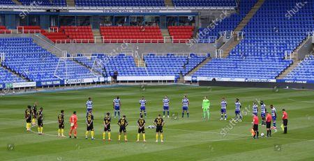 Madejski Stadium, Reading, Berkshire, England; a minutes silence before kick off; English Championship Football, Reading versus Brentford.
