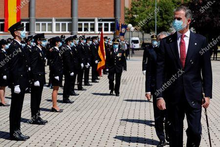 King Felipe VI chairs police officers graduation ceremony, Madrid