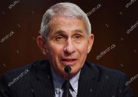 Dr. Anthony Fauci, director of the National Institute for Allergy and Infectious Diseases, testifies before the Senate Health, Education, Labor and Pensions (HELP) Committee, during a hearing on Capitol Hill in Washington DC. Fauci and other government health officials updated the Senate on how to safely get back to school and the workplace during the COVID-19 pandemic.