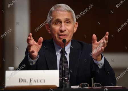 Dr. Anthony Fauci, director of the National Institute for Allergy and Infectious Diseases, testifies before the Senate Health, Education, Labor and Pensions (HELP) Committee on Capitol Hill in Washington DC. Fauci and other government health officials updated the Senate on how to safely get back to school and the workplace during the COVID-19 pandemic.