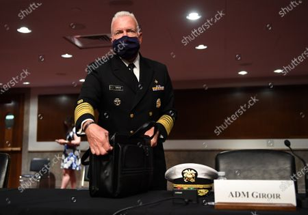 Admiral Brett Giroir, United States Assistant Secretary for Health, prepares to testify before the Senate Health, Education, Labor and Pensions (HELP) Committee on Capitol Hill in Washington DC. Fauci and other government health officials updated the Senate on how to safely get back to school and the workplace during the COVID-19 pandemic.