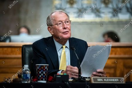 United States Senator Lamar Alexander (Republican of Tennessee), chairman, US Senate Health, Education, Labor and Pensions Committee, speaks during a hearing in Washington, D.C., U.S.,. Top federal health officials are expected to discuss efforts to get back to work and school during the coronavirus pandemic.