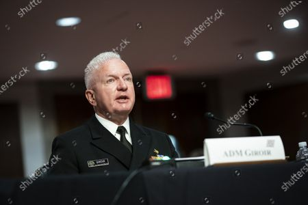 Brett Giroir, U.S. assistant secretary for health, speaks during a Senate Health, Education, Labor and Pensions Committee hearing in Washington, D.C., U.S.,. Top federal health officials are expected to discuss efforts to get back to work and school during the coronavirus pandemic.