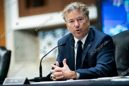 United States Senator Rand Paul (Republican of Kentucky), speaks during a Senate Health, Education, Labor and Pensions Committee hearing in Washington, D.C., U.S.,. Top federal health officials are expected to discuss efforts to get back to work and school during the coronavirus pandemic.