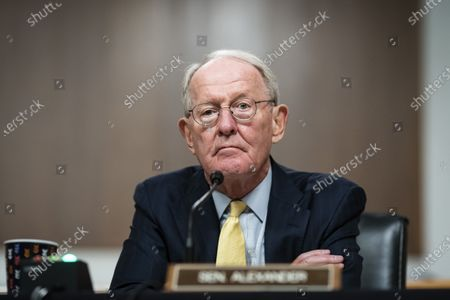 United States Senator Lamar Alexander (Republican of Tennessee), chairman, US Senate Health, Education, Labor and Pensions Committee, listens during a hearing in Washington, D.C., U.S.,. Top federal health officials are expected to discuss efforts to get back to work and school during the coronavirus pandemic.