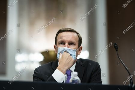United States Senator Chris Murphy (Democrat of Connecticut), listens during a Senate Health, Education, Labor and Pensions Committee hearing in Washington, D.C., U.S.,. Top federal health officials are expected to discuss efforts to get back to work and school during the coronavirus pandemic.