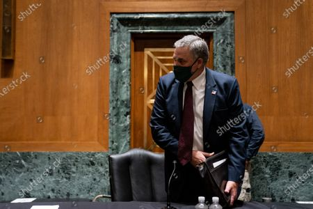United States Senator Richard Burr (Republican of North Carolina) arrives to his seat ahead of a US Senate Finance Committee hearing about the 2020 Filing Season and IRS COVID-19 Recovery at the U.S. Capitol in Washington DC.