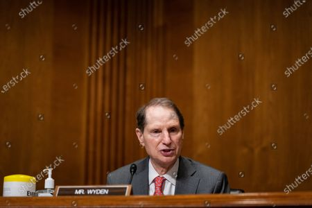 United States Senator Ron Wyden (Democrat of Oregon), Ranking Member, US Senate Committee on Finance, speaks during a US Senate Finance Committee hearing about the 2020 Filing Season and IRS COVID-19 Recovery at the U.S. Capitol in Washington DC.