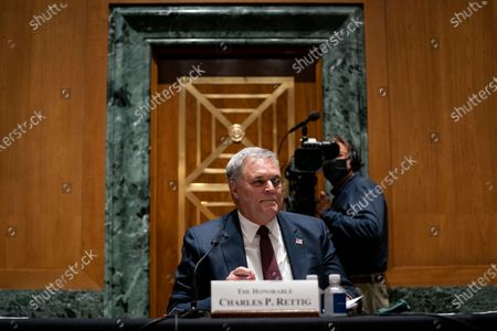 Internal Revenue Service Commissioner Charles P. Rettig testifies before the United States Senate Finance Committee on a hearing about the 2020 Filing Season and IRS COVID-19 Recovery at the U.S. Capitol in Washington DC.