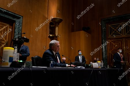Internal Revenue Service Commissioner Charles P. Rettig testifies before the Senate Finance Committee on a hearing about the 2020 Filing Season and IRS COVID-19 Recovery at the U.S. Capitol in Washington DC.