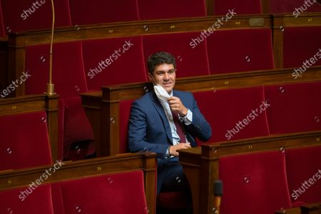 Aurelien Pradie during the weekly session of questions to the government at the national Assembly