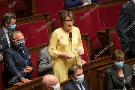 Stock Image of Annie Genevard during the weekly session of questions to the government at the national Assembly