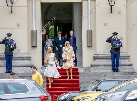 Estavana Polman and Jutta Leerdam leaving the Noordeinde Palace.