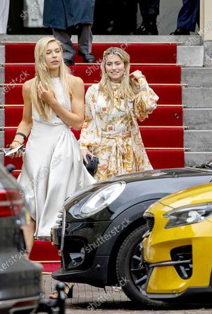 Stock Picture of Estavana Polman and Jutta Leerdam leaving the Noordeinde Palace.