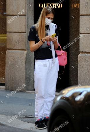 Stock Picture of Lavinia Borromeo shopping at Valentino