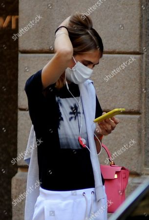 Editorial image of Lavinia Borromeo out and about, Milan, Italy - 30 Jun 2020