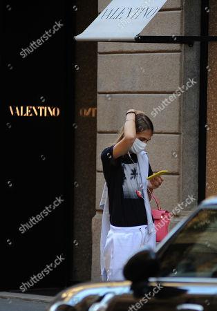 Lavinia Borromeo shopping at Valentino