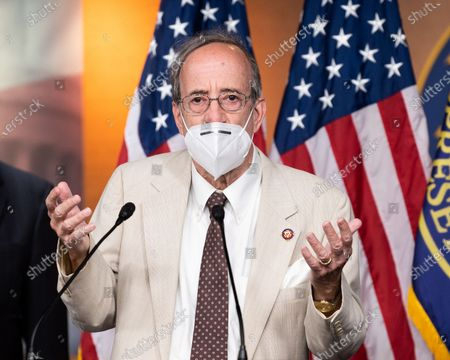 U.S. Representative, Eliot Engel (D-NY) speaking at a press conference about the White House briefing that House Democrats received earlier in the day about allegations that Russia paid bounties for Taliban fighters to kill U.S. and allied forces in Afghanistan.