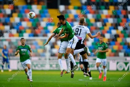 Lukasz Teodorczyk (Udinese Calcio) and Luis Muriel Atalanta BC during Udinese vs Atalanta, italian Serie A soccer match