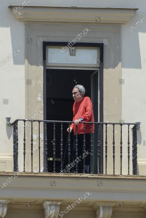 Editorial image of Emilio Fede out on his balcony, Naples, Italy - 24 Jun 2020