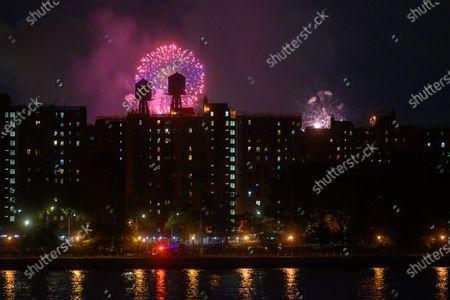 Editorial photo of Macy's 4th of July fireworks display, New York, USA - 30 Jun 2020, USA