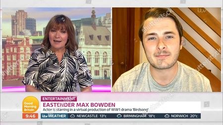 Lorraine Kelly and Max Bowden