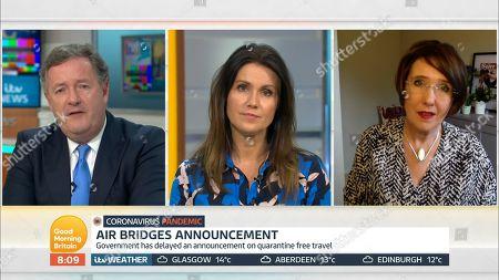 Piers Morgan, Susanna Reid and Lisa Minot