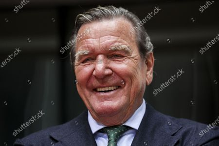 Former German Chancellor Gerhard Schroeder, prior to a hearing on the 'Nord Stream 2' Baltic gas pipeline at the Bundestag in Berlin, Germany, 01 July 2020. The Bundestag's Economic and Energy Committee holds a public hearing meant to ensure the sovereignty of German and European energy policy decisions. The 'Nord Stream 2' describes the second gas pipeline, currently under construction, consisting of two tubes, from Russia through the Baltic Sea to Lubmin in the German federal state of Mecklenburg-Western Pomerania.
