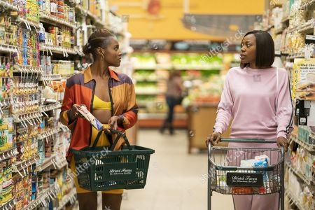 Issa Rae as Issa Dee and Yvonne Orji as Molly Carter