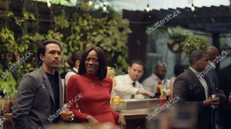 Alexander Hodge as Andrew Tan and Yvonne Orji as Molly Carter