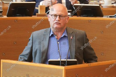 Walloon Ministre of Budget and Finances, Airports and Sports Infrastructure Jean-Luc Crucke pictured during a plenary session of the Walloon Parliament in Namur, Wednesday 01 July 2020.