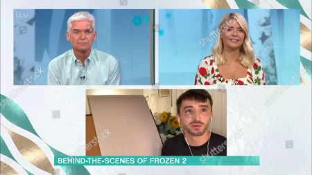 Stock Photo of Phillip Schofield, Holly Willoughby and James Woods