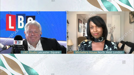 Nick Ferrari and Michelle Gayle