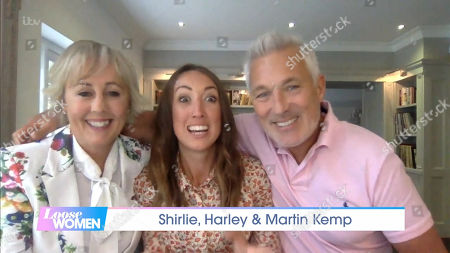 Shirlie Holliman, Harley Kemp and Martin Kemp