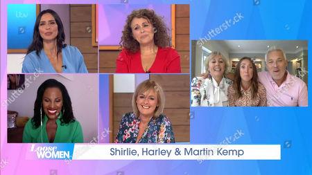 Christine Lampard, Nadia Sawalha, Kelle Bryan, Jane Moore, Shirlie Holliman, Harley Kemp and Martin Kemp