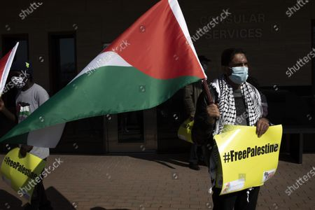 Editorial picture of South Africa Palestine annexation protest in Johannesburg - 01 Jul 2020
