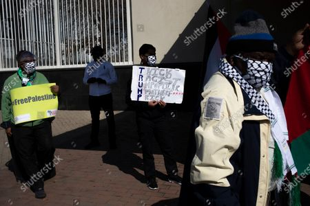 Editorial photo of South Africa Palestine annexation protest in Johannesburg - 01 Jul 2020