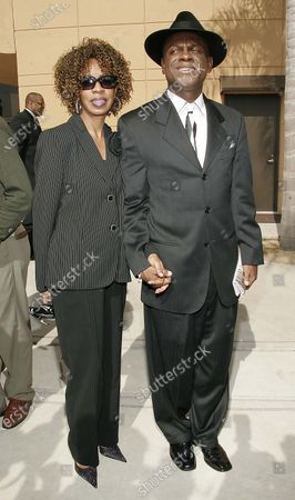 Michael Collier and Brooks Collier attend the Funeral of Famed Lawyer Johnnie Cochran held at the West Angeles Cathedral in Los Angeles, CA