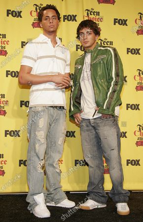 Stock Image of The Gotti Brothers, Carmine Gotti and John Gotti Jr. at The 2005 Teen Choice Awards - Press Room at the Gibson Ampitheater in Universal City, CA