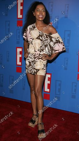 Golden Brooks arrives at E! Entertainment Television's Summer Splash Event at Amanda Scheer Demme's Tropicana Bar at the Roosevelt Hotel in Hollywood, CA