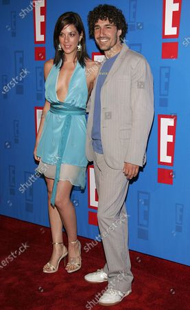 Jenna Morasca and Ethan Zohn arrive at E! Entertainment Television's Summer Splash Event at Amanda Scheer Demme's Tropicana Bar at the Roosevelt Hotel in Hollywood, CA