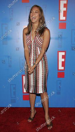 Eva La Rue arrives at E! Entertainment Television's Summer Splash Event at Amanda Scheer Demme's Tropicana Bar at the Roosevelt Hotel in Hollywood, CA